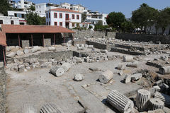 Mausoleo en Halicarnassus en Bodrum, Turquía imagenes de archivo