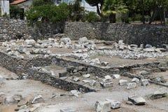 Mausoleo en Halicarnassus en la ciudad de Bodrum imagen de archivo libre de regalías