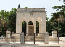 The Mausoleo Ossario Garibaldino  on the Janiculum Hill in Rome Stock Photos