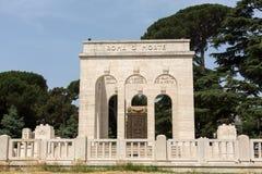 The Mausoleo Ossario Garibaldino  on the Janiculum Hill in Rome, Stock Photos
