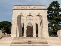 The Mausoleo Ossario Garibaldino  on the Janiculum Hill in Rome, Stock Image