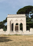 The Mausoleo Ossario Garibaldino  on the Janiculum Hill in Rome Royalty Free Stock Photo