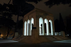 The Mausoleo Ossario Garibaldino at night Royalty Free Stock Photo