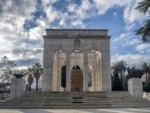 Mausoleo Ossario Gianicolense in Rome, Italy Stock Image