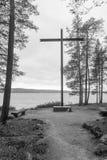 Mausoleo per il soldato tedesco che è morto in WWII, Rovaniemi immagini stock