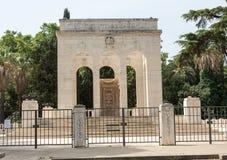Mausoleoen Ossario Garibaldino på den Janiculum kullen i Rome Arkivbilder