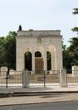 Mausoleoen Ossario Garibaldino på den Janiculum kullen i Rome Royaltyfri Bild