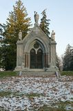 Mausoleum. A mausoleum in the woodlands cemetery , London Ontario Royalty Free Stock Photo