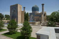 Mausoleum of Amir Timur (1336-1405). Political figure of the second half of the XIV century. Samarkand, Uzbekistan - July 03, 2014: Mausoleum of Amir Timur (1336 Royalty Free Stock Photos