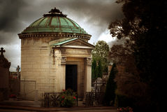 Mausoleum in Ancient Graveyard Stock Photography
