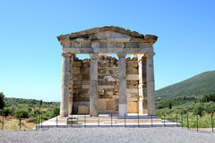The mausoleum in ancient Messene (Messinia) Stock Photo
