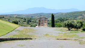 The mausoleum in ancient Messene (Messinia) Stock Images