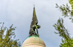 Mausoleum angel statue Stock Images