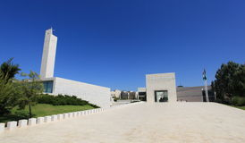 Mausoleum of Arafat Complex in Ramallah. View of the complex of the mausoleum of Yasser Arafat located in the Mukataa compound, Ramallah. 10 km north of Stock Image