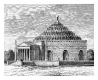 Mausoleum of Augustus, Rome, vintage engraving Stock Photo