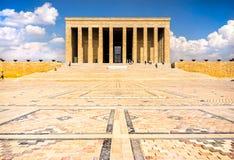 Mausoleum av Ataturk, Ankara Turkiet Arkivbild