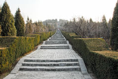 Mausoleum av den första Qin Emperor i Xian, Kina fotografering för bildbyråer