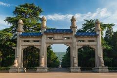 Mausoleum av dren sen sun yat royaltyfria bilder