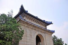 Mausoleum av dren Sun Yat-sen Nanjing, Kina Arkivbild