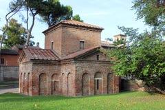 Mausoleum av Galla Placidia, Ravenna, Italien Royaltyfri Fotografi