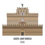 Mausoleum av Hadrian, Castel SantAngelo stock illustrationer