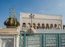 Mausoleum av Mohammed V och och Hassan II i Rabat Arkivbild