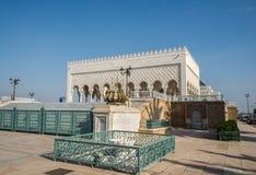 Mausoleum av Mohammed V och och Hassan II i Rabat Royaltyfria Foton