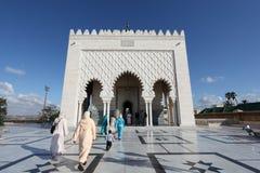 Mausoleum av Mohammed V, Rabat Arkivfoto