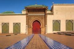 Mausoleum av Moulay Ismail, Mekens Arkivbild