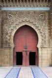 Mausoleum av Mouley Ismail i Meknes royaltyfria foton