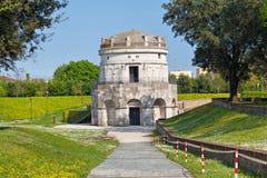 Mausoleum av Theoderic i Ravenna Arkivfoto