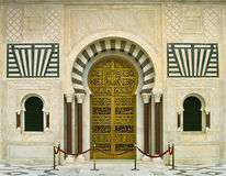 Mausoleum. Beautifully decorated gate at the entrance to the mausoleum of Habib Bourguiba in Monastir, Tunisia Royalty Free Stock Images