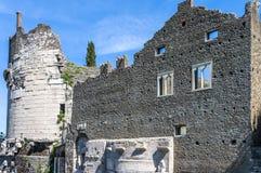 Mausoleum building remains stock images
