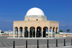 Mausoleum. Buildings in typical Muslim style in front of the mausoleum of former Tunisian president Habib Bourguiba Royalty Free Stock Photos