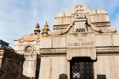 Mausoleum at Cementerio de La Recoleta Buenos Aires, Agentina Royalty Free Stock Photo