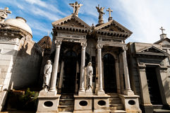 Mausoleum at Cementerio de La Recoleta Buenos Aires, Argentina Royalty Free Stock Photography