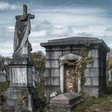 Mausoleum in the cemetery stock photography