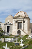 Mausoleum cemetery old town bonifacio corsica Stock Photo
