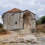 Mausoleum in Chufut-Kale, tatar fortress in Crimea, Ukraine Stock Photo