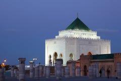 Mausoleum an der Dämmerung, Rabat Stockfotografie
