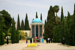 Mausoleum des Saadi Parks in Shiraz Lizenzfreie Stockfotos