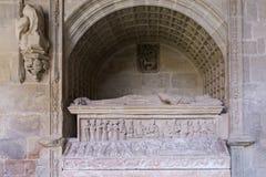 Mausoleum Diego Lopez de Haro, Monastery of Santa Maria la Real Royalty Free Stock Image