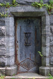 Mausoleum Door. Metal mausoleum door with rust in a cemetery Royalty Free Stock Photography