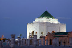 Mausoleum at dusk, Rabat Stock Photography