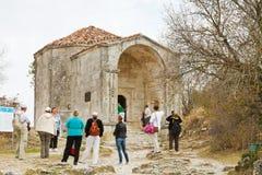 Mausoleum Dzhanike-Khanym, daughter of Tokhtamysh Stock Photo