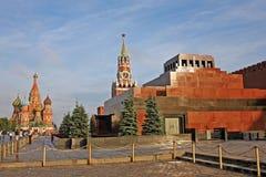 Mausoleum för Lenin ` s i röd fyrkant i Moskva, Ryssland Arkivbilder