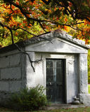 Mausoleum in Fall Royalty Free Stock Photos