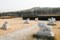 Mausoleum of the First Qin Emperor in Xian, China Royalty Free Stock Image