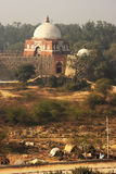 Mausoleum of Ghiyath al-Din Tughluq seen from Tughlaqabad Fort, Stock Images