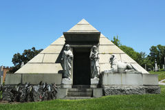 Mausoleum at the Green-Wood cemetery in Brooklyn Royalty Free Stock Photos